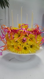 YELLOW BIRTHDAY CAKE in The Villages FL, The Villages Florist Inc.
