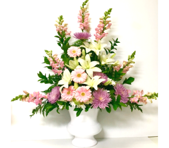 Pastel Sentiments Sympathy Arrangement in Wyoming MI, Wyoming Stuyvesant Floral