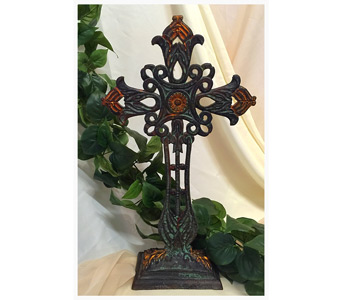 Ornamental Metal Cross in Owensboro KY, Welborn's Floral Company