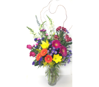 Sentiments of the Garden 11 inch Vase - One-Sided in Wyoming MI, Wyoming Stuyvesant Floral