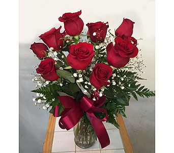 Medium Red Roses in Fredericton NB, Trites Flower Shop
