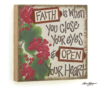 Faith Wall Hanging in Princeton, Plainsboro, & Trenton NJ, Monday Morning Flower and Balloon Co.