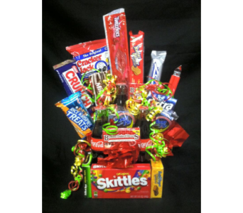 Candy & coke basket in New Iberia LA, Breaux's Flowers & Video Productions, Inc.