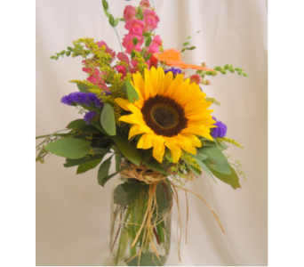 Sunshine in a Mason Jar in Saratoga Springs NY, Dehn's Flowers & Greenhouses, Inc