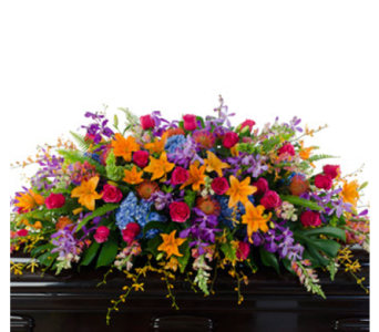 Fondly Remembered Casket Spray in Randallstown MD, Raimondi's Funeral Flowers