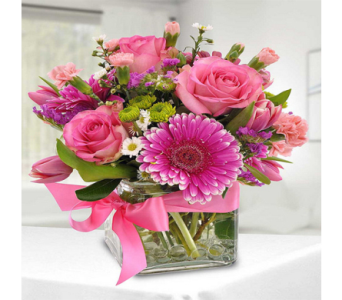 Delightful in Pink in Indianapolis IN, George Thomas Florist