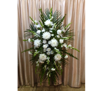 Custom White Spray in Orange CA, Main Street Florist