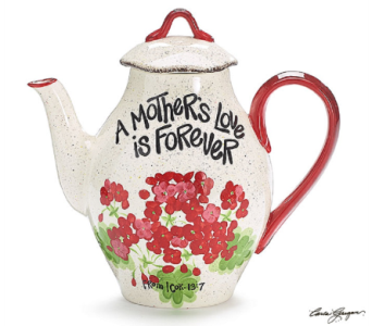 Mom's Geranium Teapot in Princeton, Plainsboro, & Trenton NJ, Monday Morning Flower and Balloon Co.