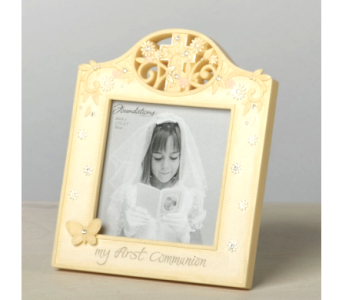 First Communion Photo Frame in Timmins ON, Timmins Flower Shop Inc.