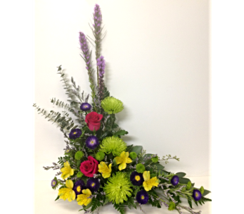 Rainbow Remembrance Styled Arrangement in Wyoming MI, Wyoming Stuyvesant Floral