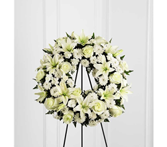 The FTD� Treasured Tribute� Wreath in Branford CT, Myers Flower Shop