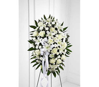 The FTD� Exquisite Tribute� Standing Spray in Branford CT, Myers Flower Shop