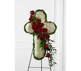The FTD� Floral Cross Easel in Branford CT, Myers Flower Shop