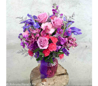 PASSIONATE PURPLES by Rubrums in Ossining NY, Rubrums Florist Ltd.