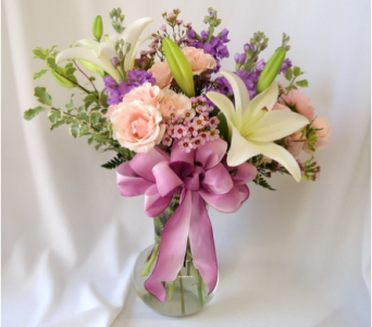 Rose and Lily Bouquet in Saratoga Springs NY, Dehn's Flowers & Greenhouses, Inc