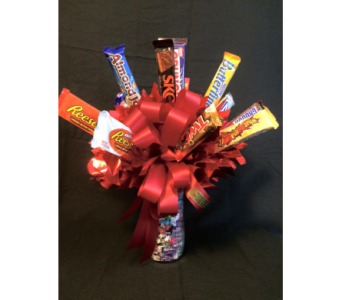Large Candy Bar Bouquet in New Iberia LA, Breaux's Flowers & Video Productions, Inc.