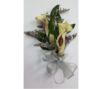 Double Calla Lily Corsage in Rockledge PA, Blake Florists
