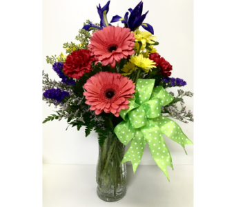 Bright Blooms in 8-1/2 inch Vase - All-Around in Wyoming MI, Wyoming Stuyvesant Floral