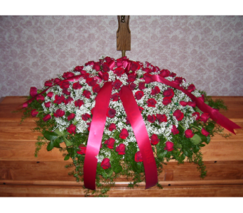 Casket Spray Roses in Yonkers NY, Hollywood Florist Inc