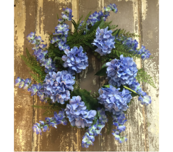 Blue Floral Wreath  in Easton MD, Robin's Nest