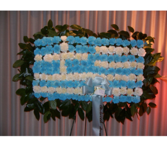Greek Flag in Yonkers NY, Hollywood Florist Inc