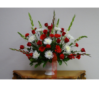 Red and White Devotion in Oklahoma City OK, Flowers By Pat