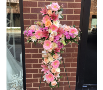 Sympathy Cross by Color in Princeton, Plainsboro, & Trenton NJ, Monday Morning Flower and Balloon Co.