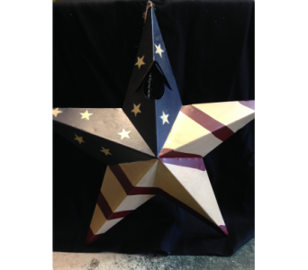 Red White & Blue Metal Star Birdhouse in Fayetteville GA, Our Father's House Florist & Gifts