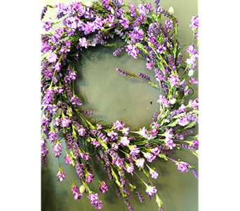 Silk Lavender Wreath in Fayetteville GA, Our Father's House Florist & Gifts
