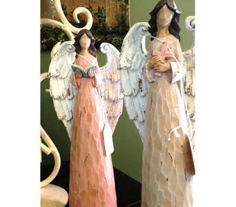 Carved Angel in Fayetteville GA, Our Father's House Florist & Gifts