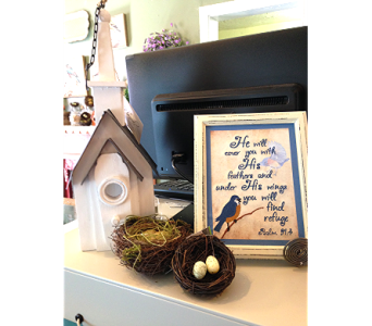 Wood Birdhouse Church in Fayetteville GA, Our Father's House Florist & Gifts