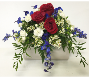 Patriotic Colors Urn Arrangement in Wyoming MI, Wyoming Stuyvesant Floral