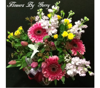 Blushing Spring Bouquet  in Brentwood CA, Flowers By Gerry