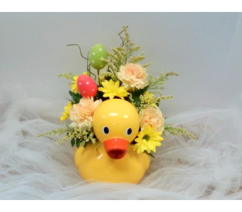 Easter Duck Bouquet in Asheville NC, Kaylynne's Briar Patch Florist, LLC