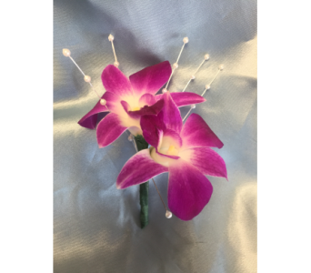 Fushia Dendrobium Orchid Boutonniere in Bethesda MD, Suburban Florist