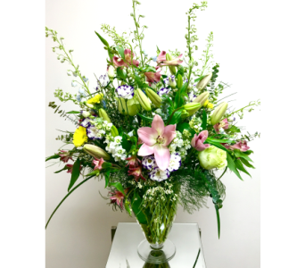Meadow Side Vase Arrangement - Designed All-Around in Wyoming MI, Wyoming Stuyvesant Floral