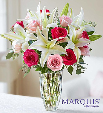 Marquis by Waterford Roses and Lily Bouquet-Large in El Cajon CA, Conroy's