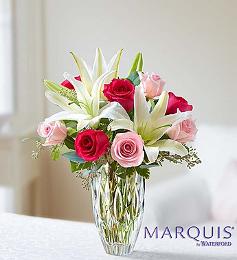 Marquis by Waterford Roses and Lily Bouquet-Small in El Cajon CA, Conroy's