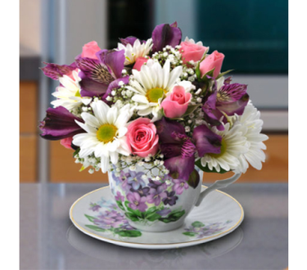 Teacup Bouquet in Indianapolis IN, George Thomas Florist