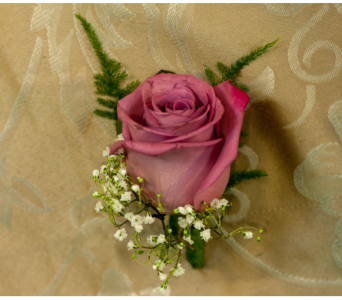 Lavender Rose Boutonniere in Merrick NY, Feldis Florists