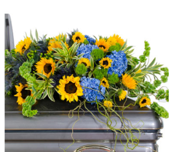 Sunflower Casket Spray in Randallstown MD, Raimondi's Funeral Flowers
