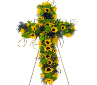Sunflower Cross in Randallstown MD, Raimondi's Funeral Flowers