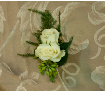 White Baby Rose Boutonniere in Merrick NY, Feldis Florists