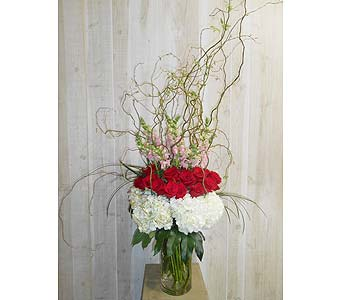Roses in the Snow in Dallas TX, Petals & Stems Florist