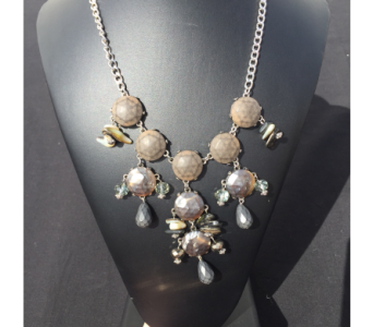 Grey Statement Necklace in Virginia Beach VA, Fairfield Flowers