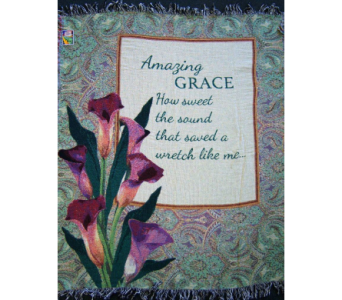 Amazing Grace Lilies Woven Throw in Tipp City OH, Tipp Florist Shop