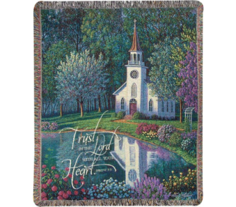 Sanctuary - Trust in the Lord Woven Throw in Tipp City OH, Tipp Florist Shop