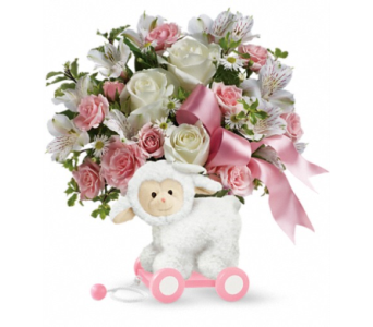 Teleflora's Sweet Little Lamb - Baby Pink in Angus ON, Jo-Dee's Blooms & Things