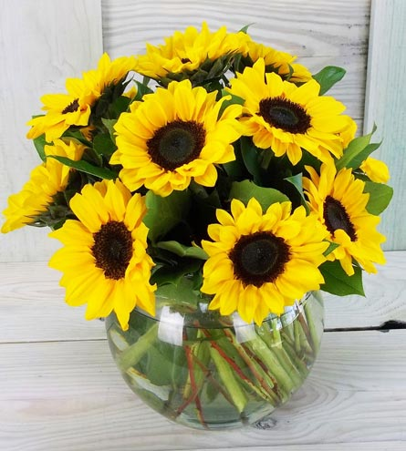Simply Sunflowers in Raleigh NC, Fallons Creative Flowers