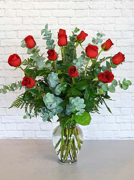 One Dozen Premium Red Roses in Raleigh NC, Fallon's Flowers